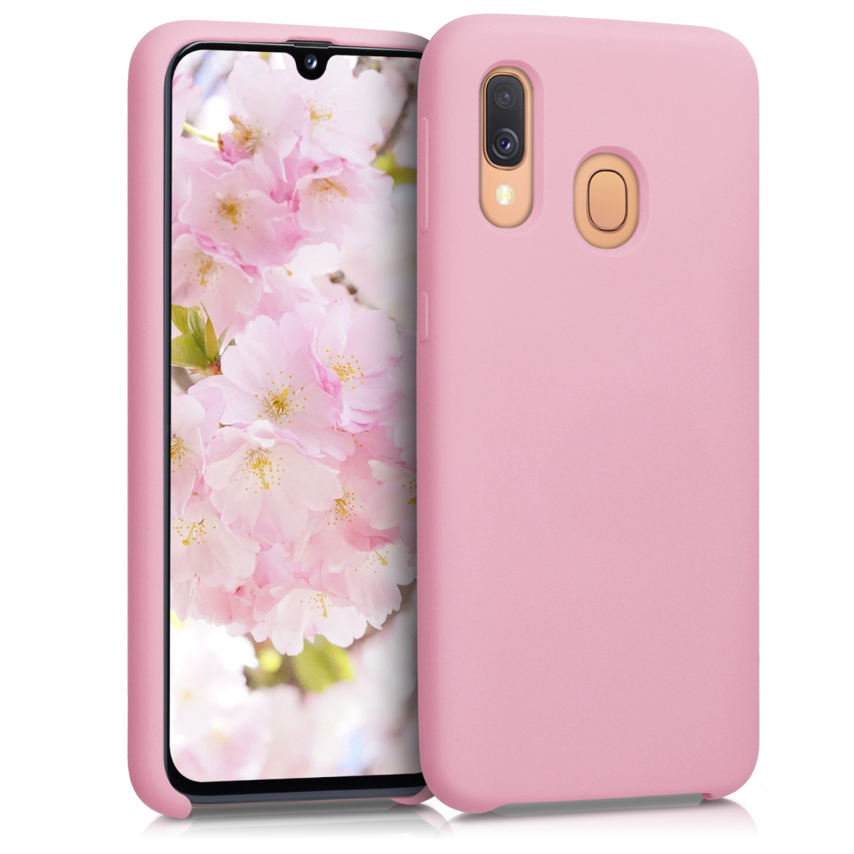 KW Θήκη Σιλικόνης Samsung Galaxy A40 - Soft Flexible Rubber - Rose Gold Matte (49091.89)