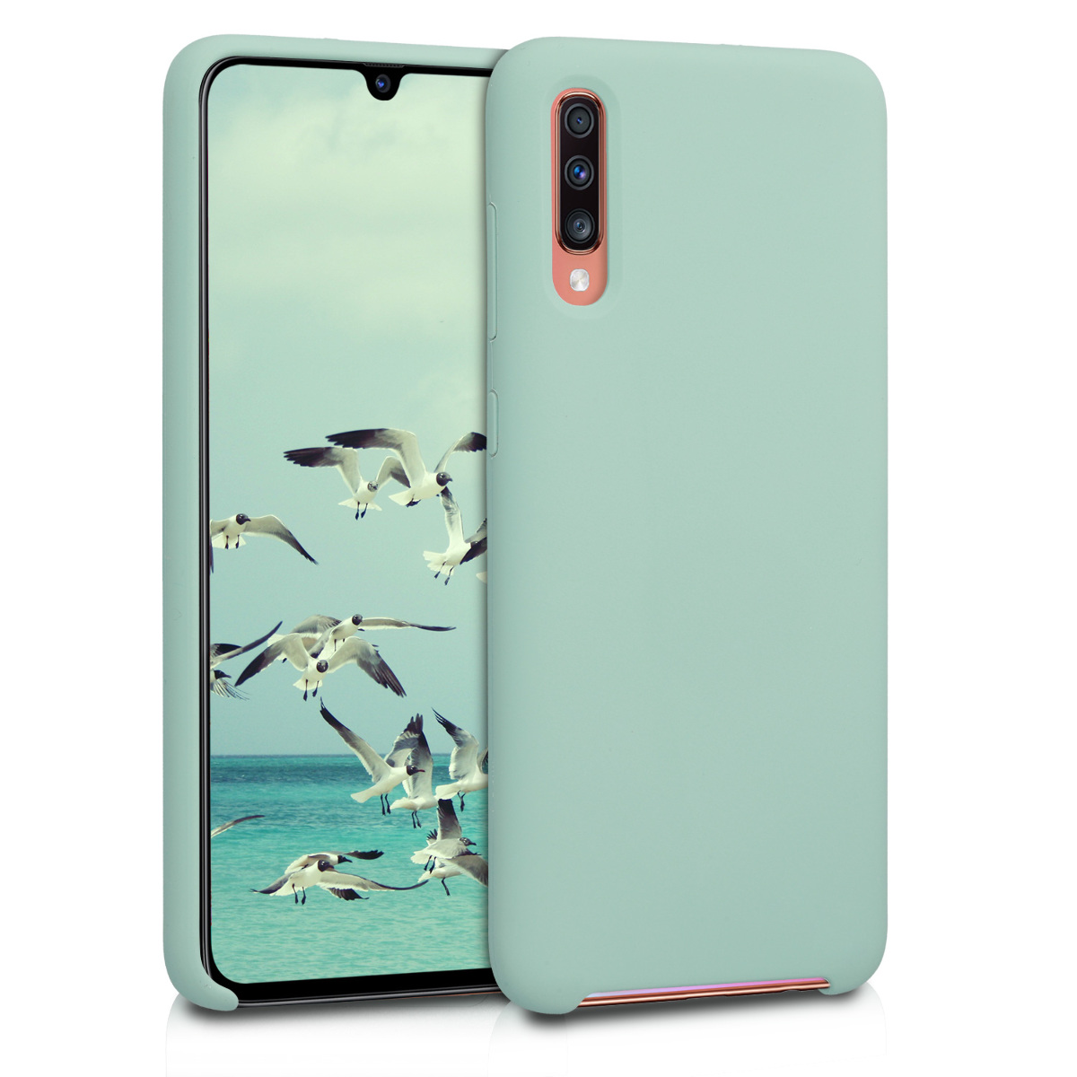 KW Θήκη Σιλικόνης Samsung Galaxy A70 - Soft Flexible Rubber - Mint Matte (49097.50)