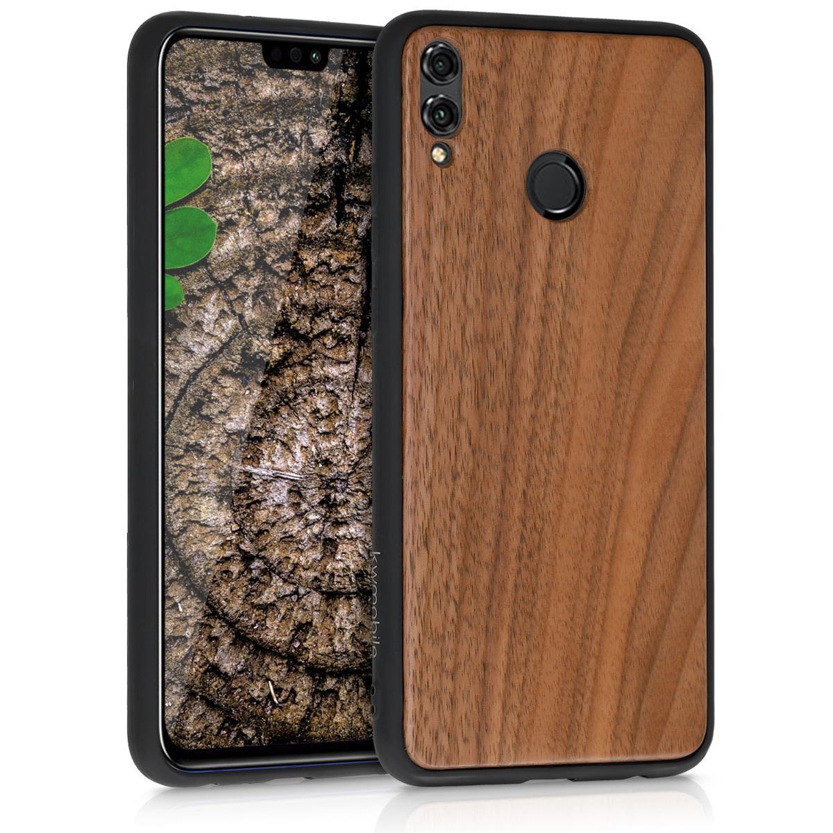 KW Σκληρή Ξύλινη Θήκη Huawei Honor 8X - Dark Brown (49159.18)