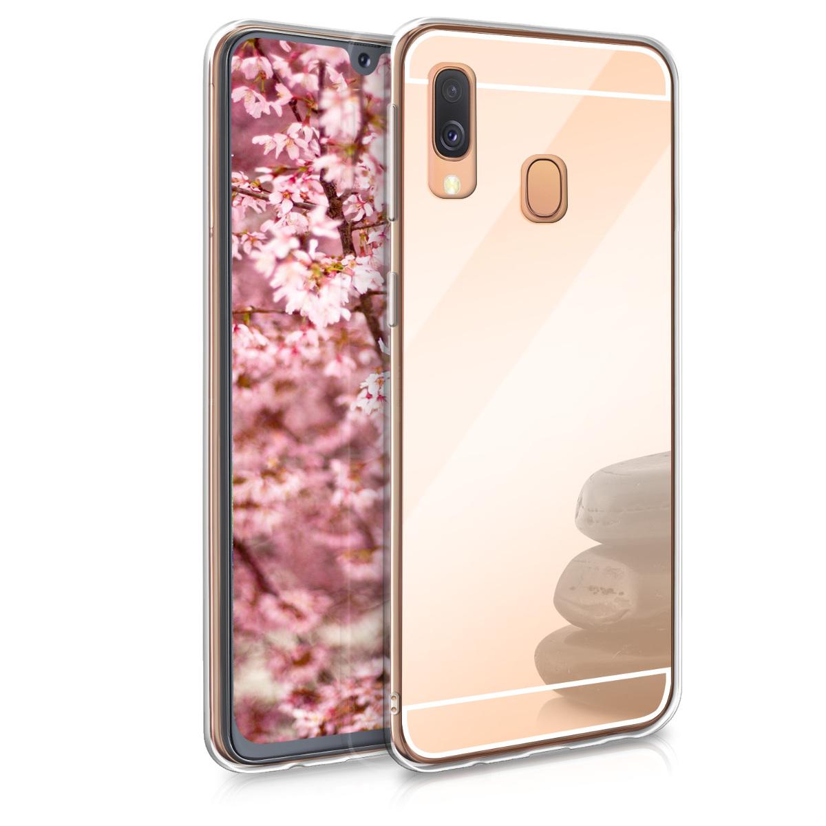 KW Θήκη Σιλικόνης (TPU) με Καθρέφτη Samsung Galaxy A40 - Rose Gold Reflective (49217.41)