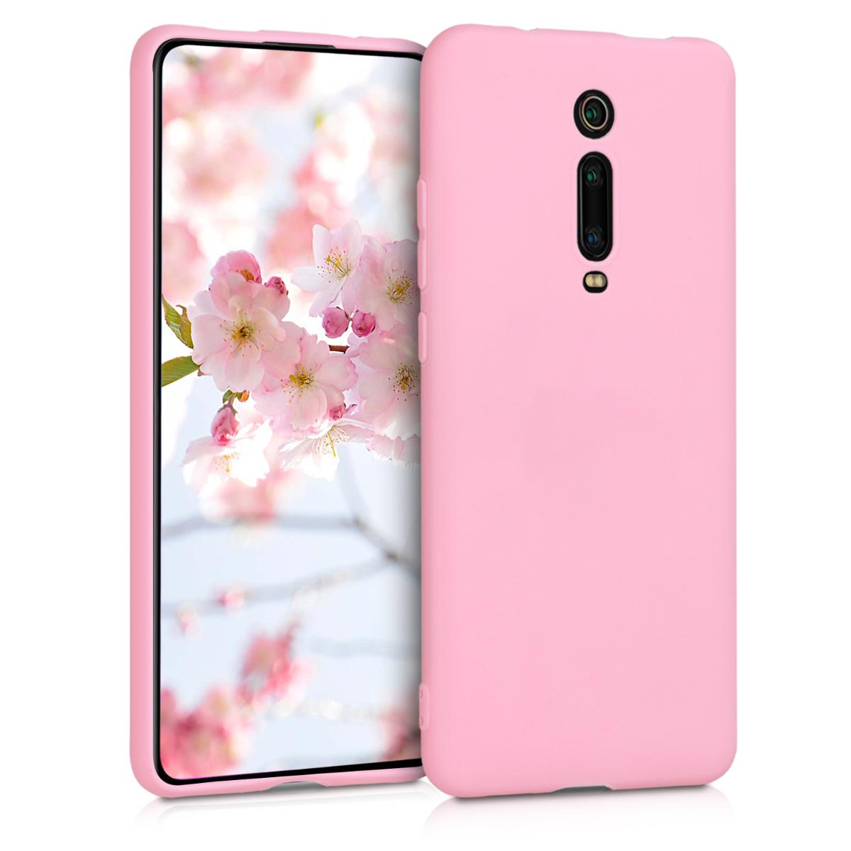 KW Θήκη Σιλικόνης Xiaomi Mi 9T (Pro) / Redmi K20 (Pro) - Soft Flexible Shock Absorbent - Light Pink Matte (49224.123)