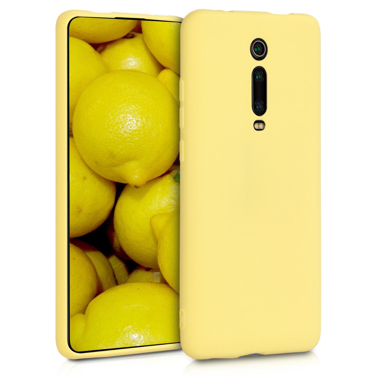 KW Θήκη Σιλικόνης Xiaomi Mi 9T / Redmi K20 Pro - Yellow Matte (49224.49)