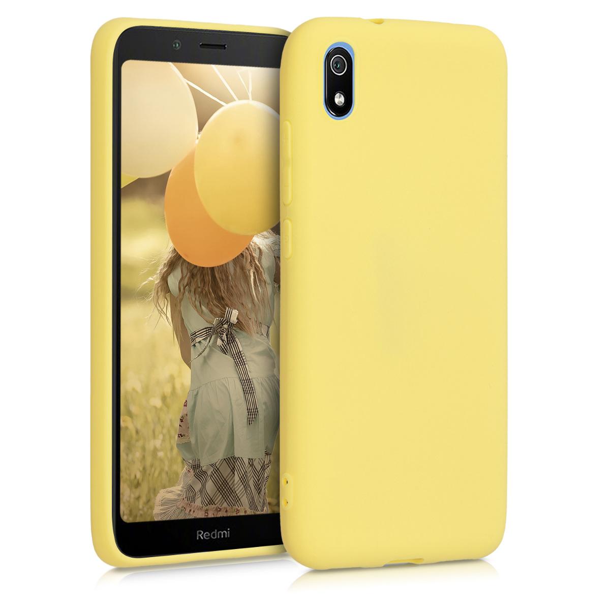 KW Θήκη Σιλικόνης Xiaomi Redmi 7A - Soft Flexible Shock Absorbent - Yellow Matte (49231.49)