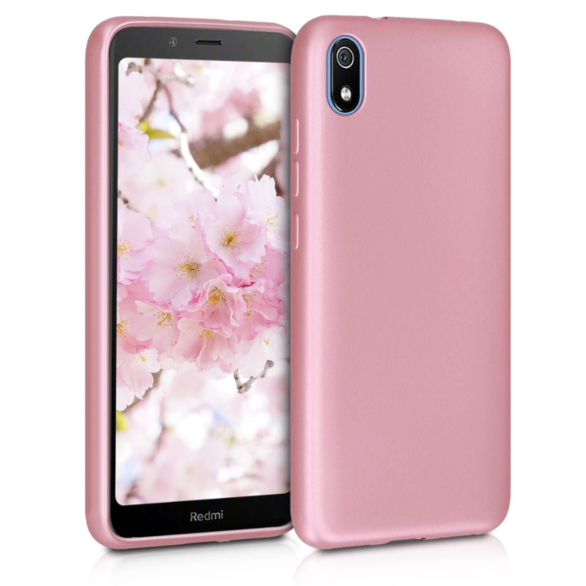 KW Θήκη Σιλικόνης Xiaomi Redmi 7A - Metallic Rose Gold (49233.31)
