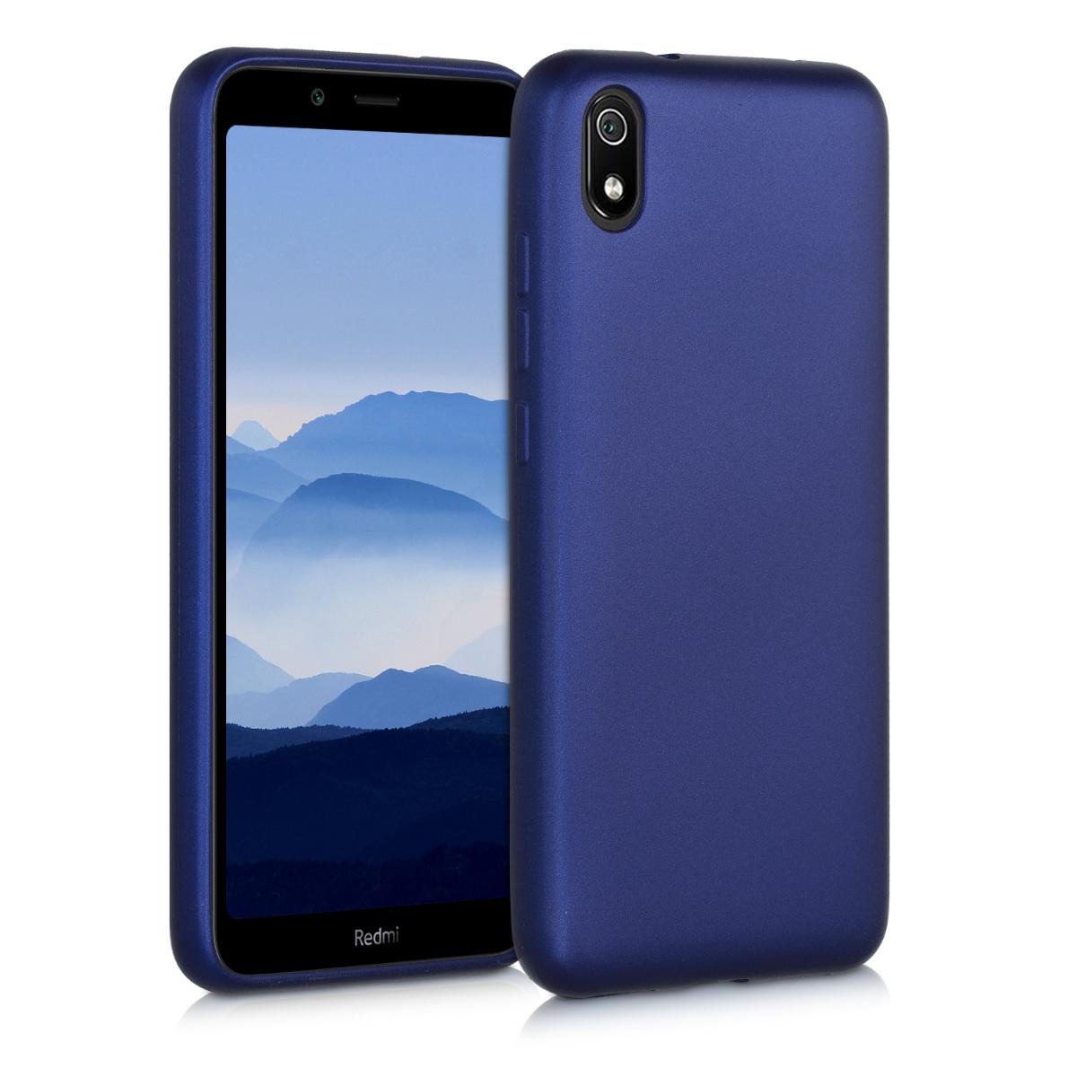 KW Θήκη Σιλικόνης Xiaomi Redmi 7A - Metallic Blue (49233.64)