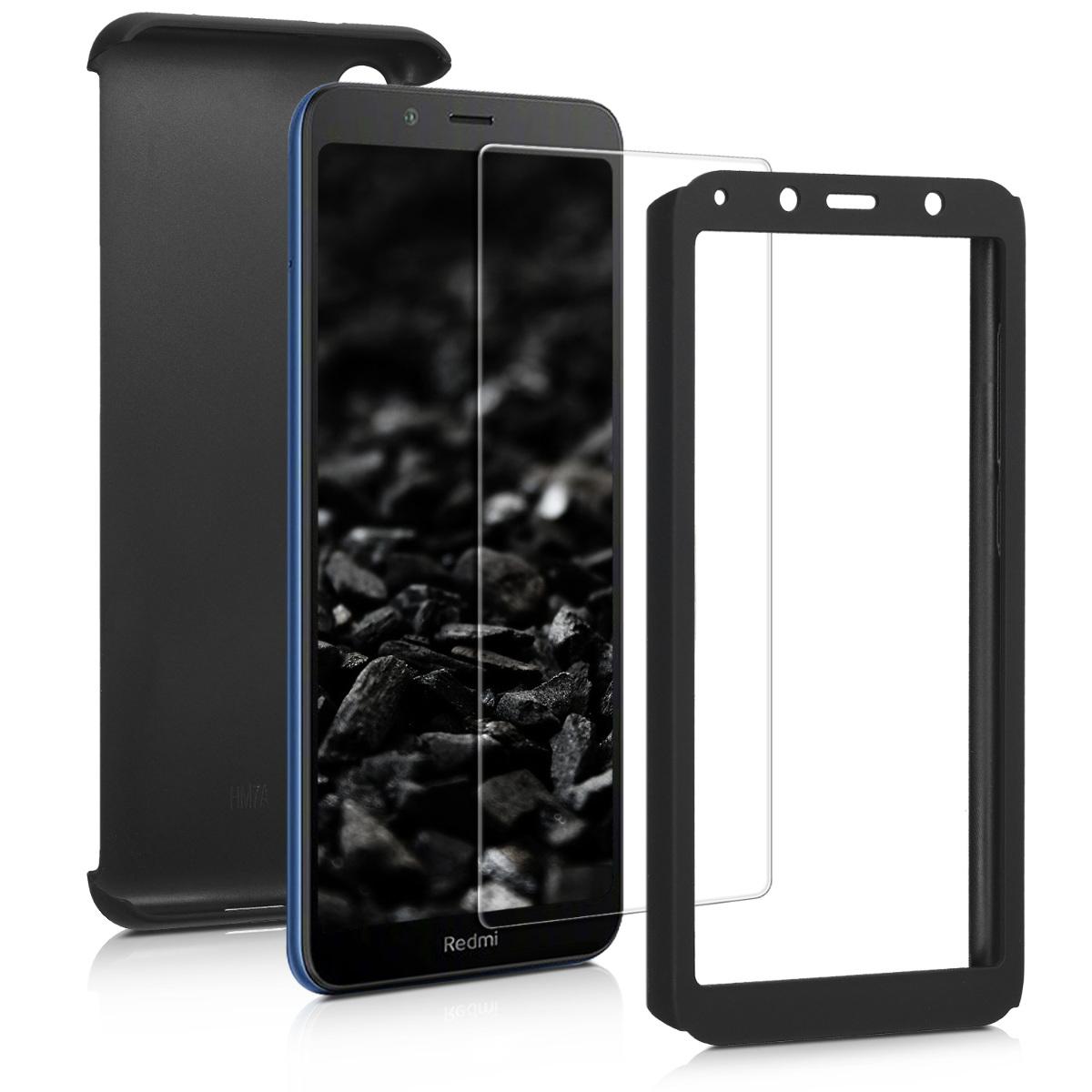 KW Θήκη Full Body Xiaomi Redmi 7A & Tempered Glass - Metallic Black (49234.68)