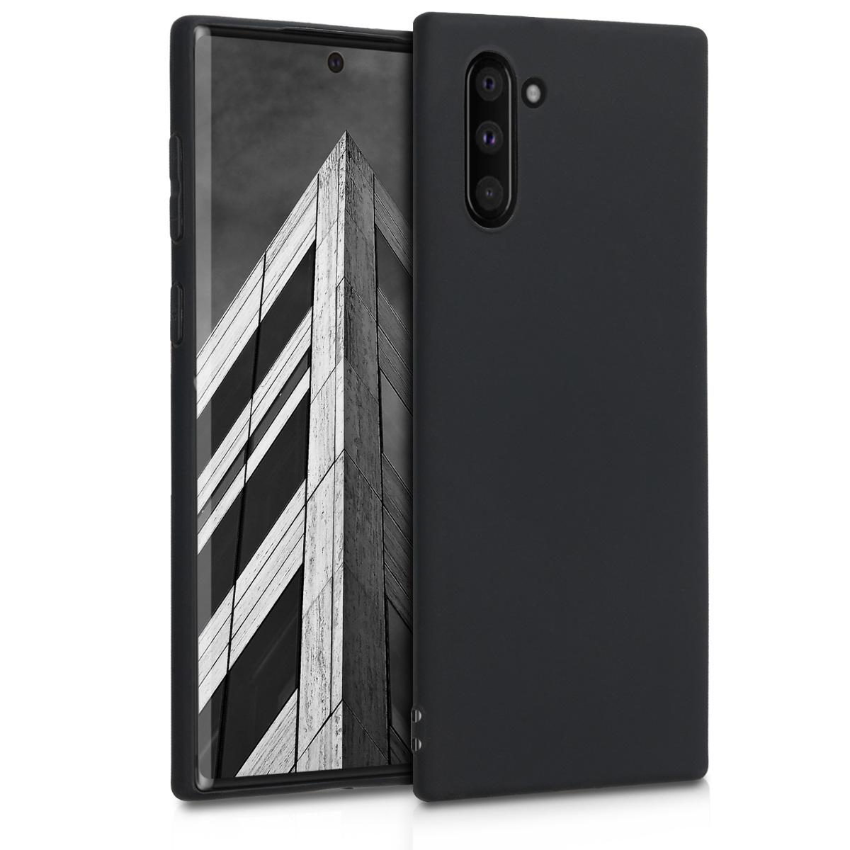 KW Θήκη Σιλικόνης Samsung Galaxy Note 10 - Black Matte (49274.47)