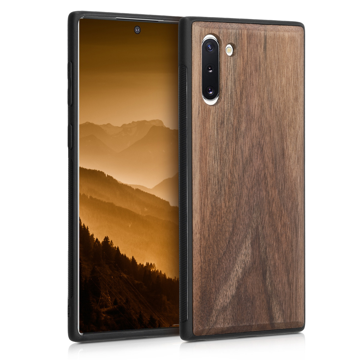 KW Σκληρή Ξύλινη Θήκη Samsung Galaxy Note 10 - Dark Brown (49276.18)