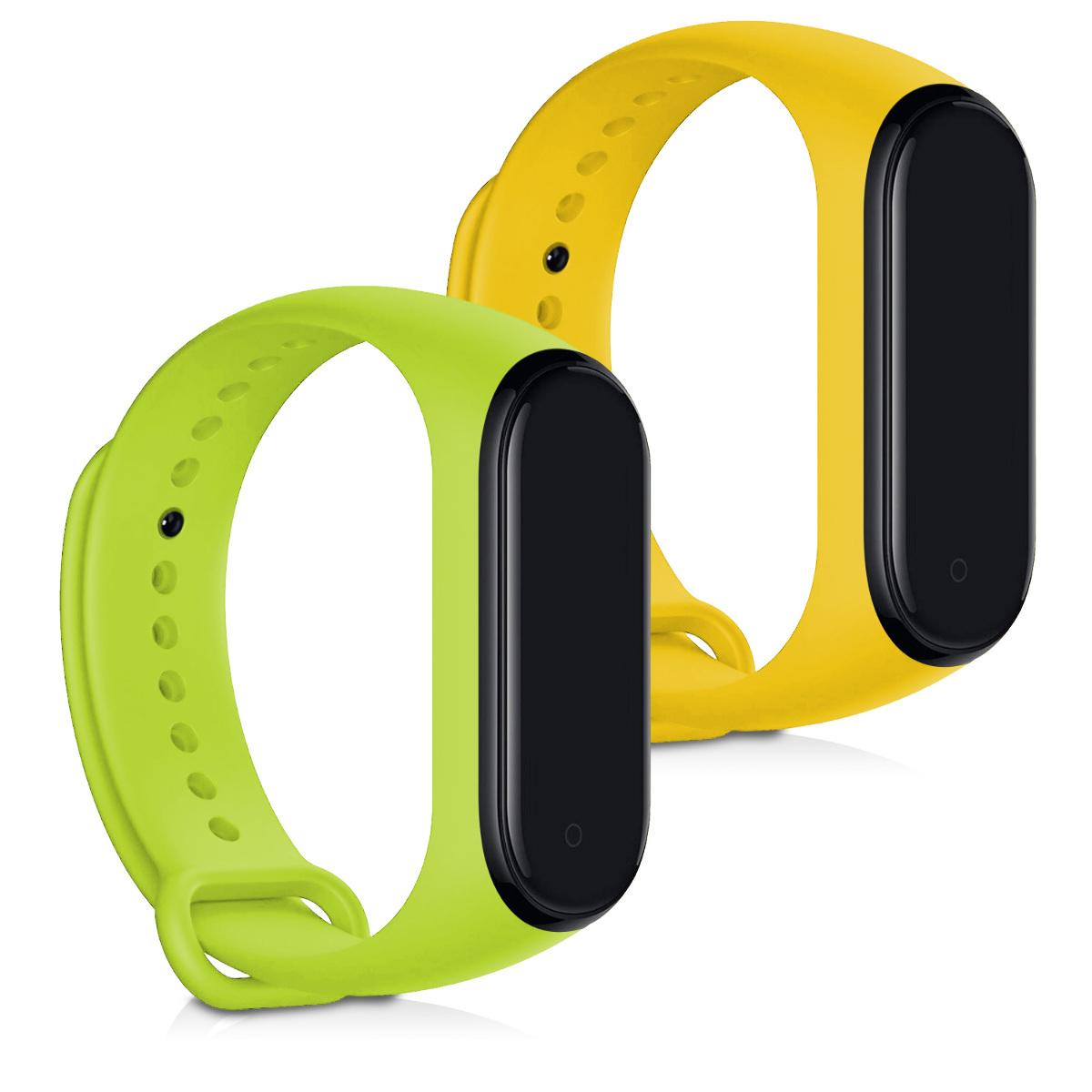 KW Ανταλλακτικά Αδιάβροχα Λουράκια Xiaomi Mi Band 4 - Yellow / Green - 2 τεμάχια (49312.08)