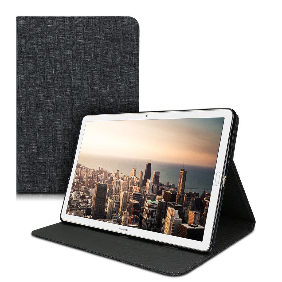KW Θήκη Huawei MediaPad M6 10.8'' - Protective Tablet Cover with Stand Feature - Dark Grey (49331.01)