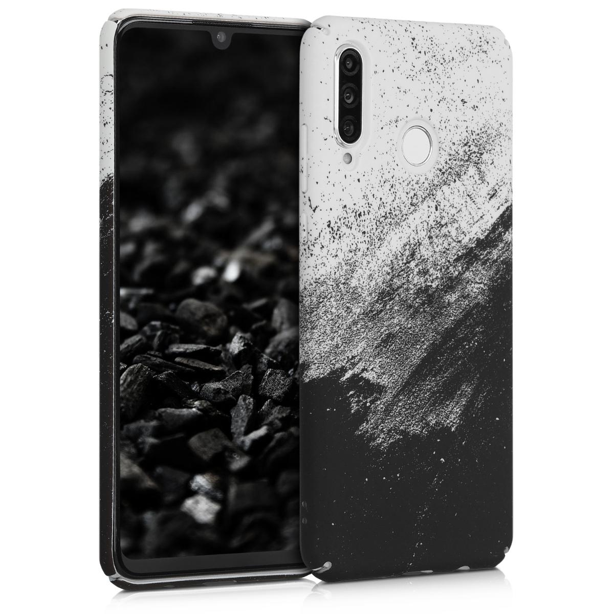 KW Σκληρή Θήκη Huawei P30 Lite - Black / White (49335.01)