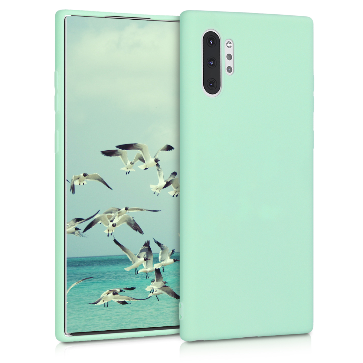 KW Θήκη Σιλικόνης Samsung Galaxy Note 10 Plus - Soft Flexible Shock Absorbent - Mint Matte (49353.50)