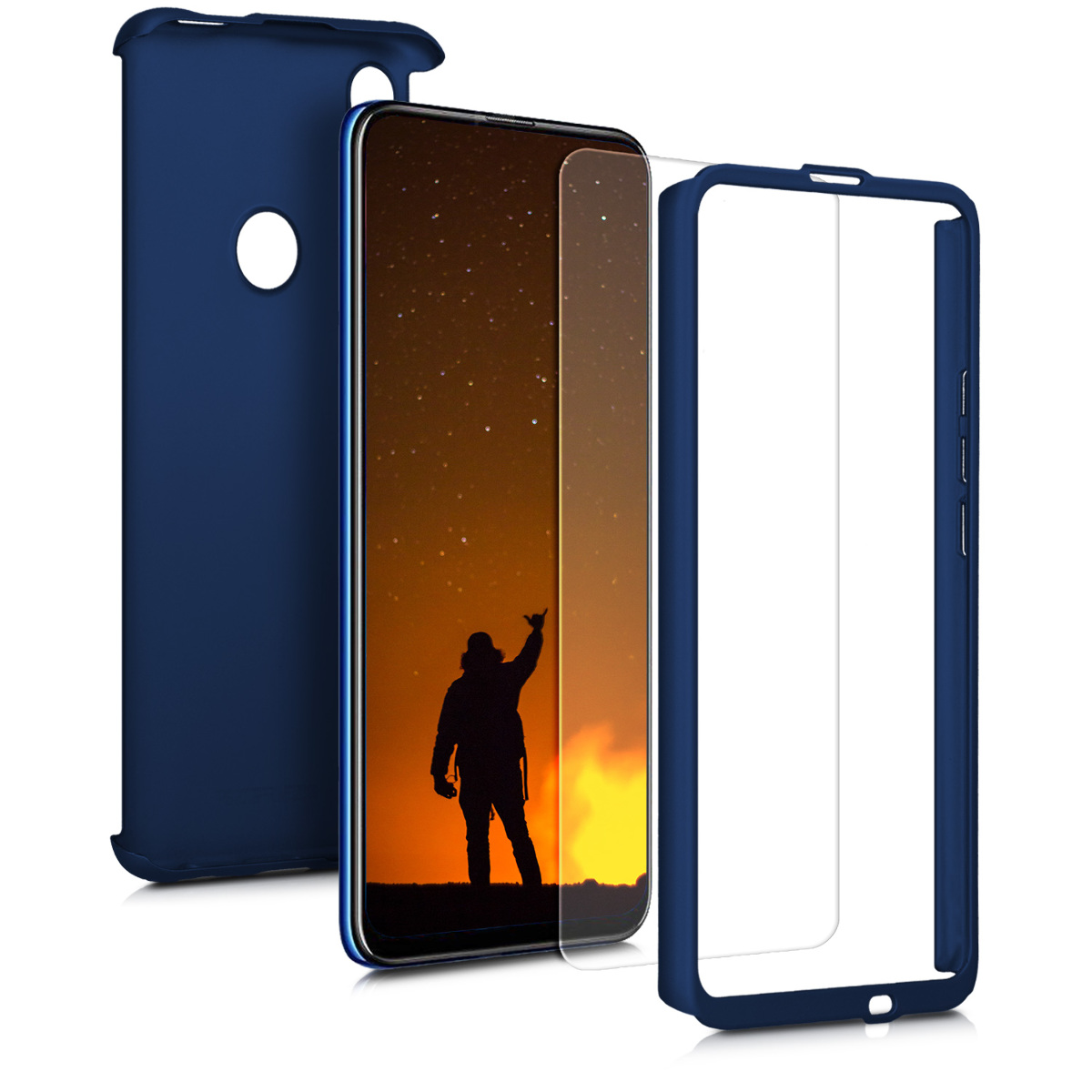 KW Full Body Θήκη Huawei P Smart Z & Tempered Glass - Metallic Blue (49367.64)