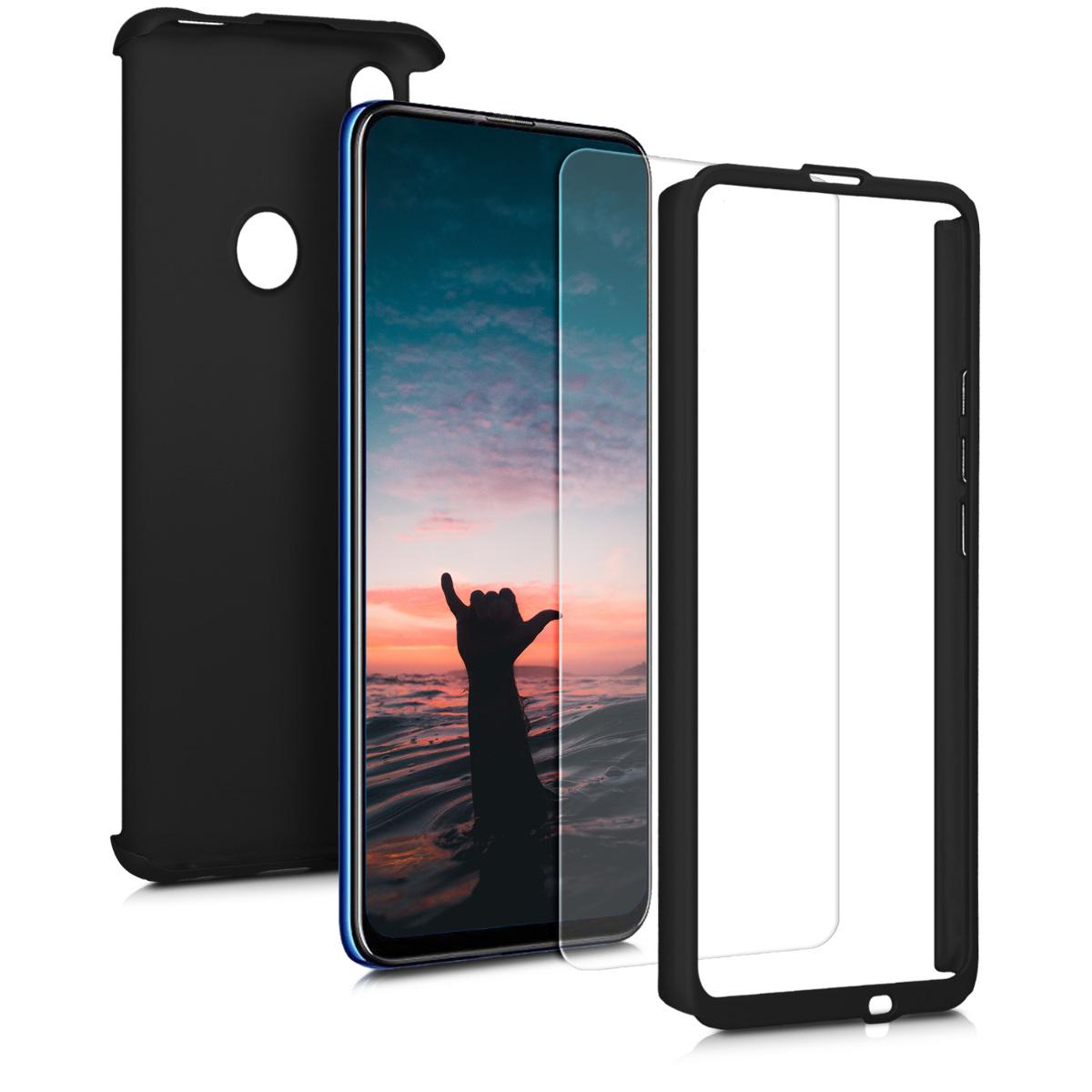 KW Θήκη Full Body Huawei P Smart Z & Tempered Glass  - Metallic Black (49367.68)