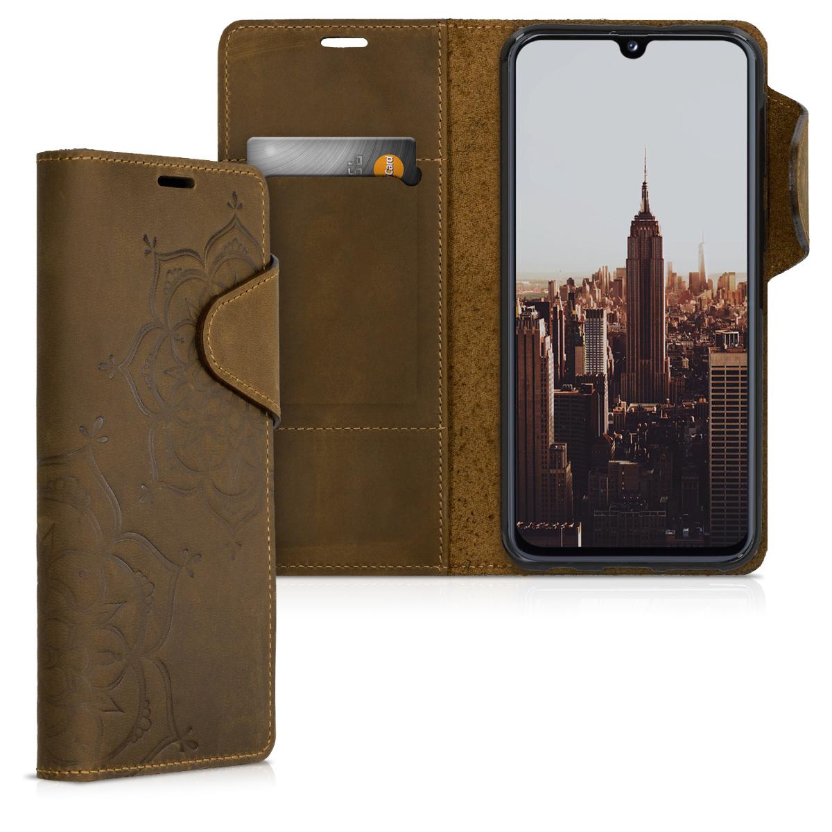Kalibri Δερμάτινη Suede Θήκη - Πορτοφόλι Samsung Galaxy A40 - Brown (49445.02)