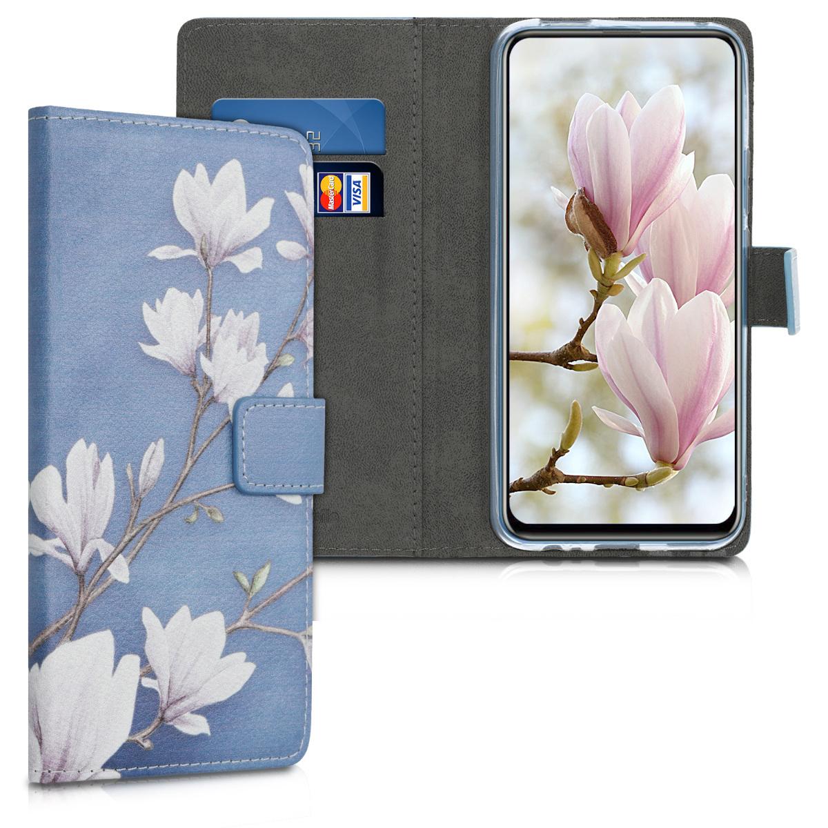 KW Θήκη Πορτοφόλι Huawei P Smart Z - Taupe / White / Blue Grey (49453.02)