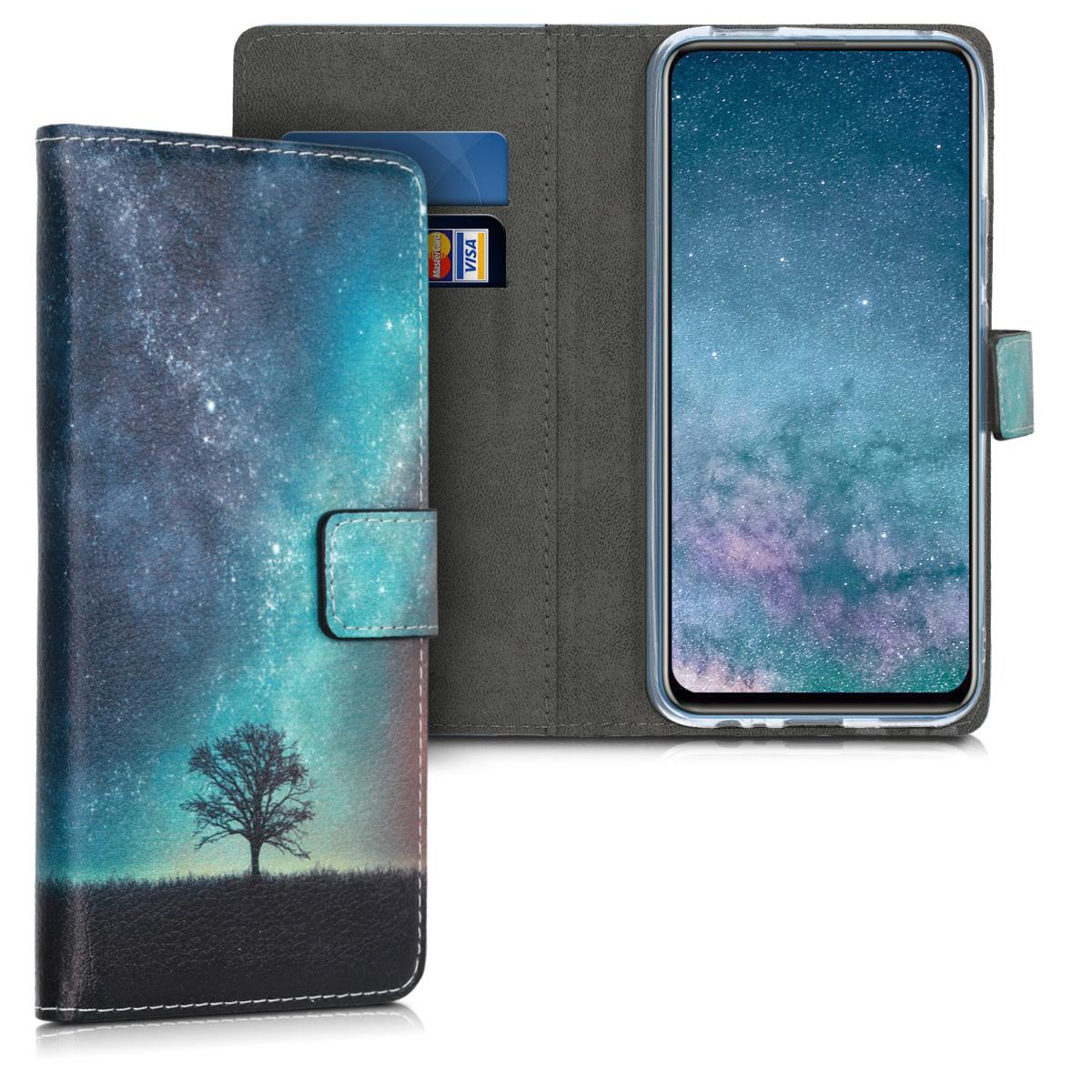 KW Θήκη Πορτοφόλι Huawei P Smart Z - Blue / Grey / Black (49453.03)