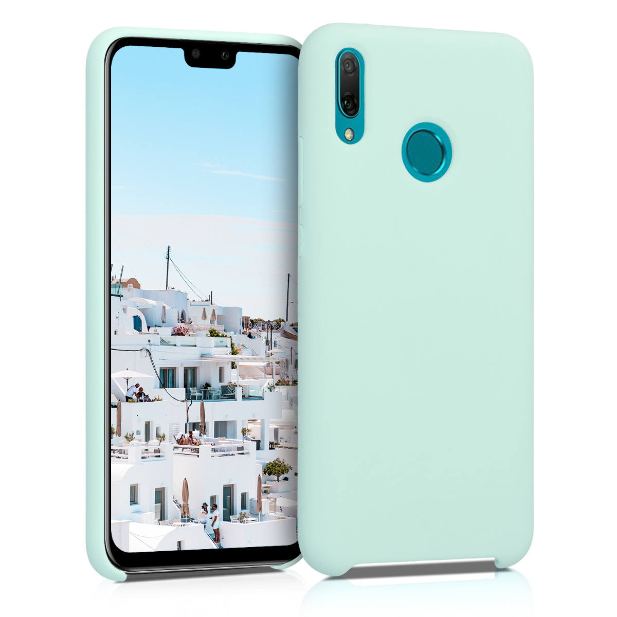 KW Θήκη Σιλικόνης Huawei Y9 2019 - Soft Flexible Rubber - Mint Matte (49514.50)