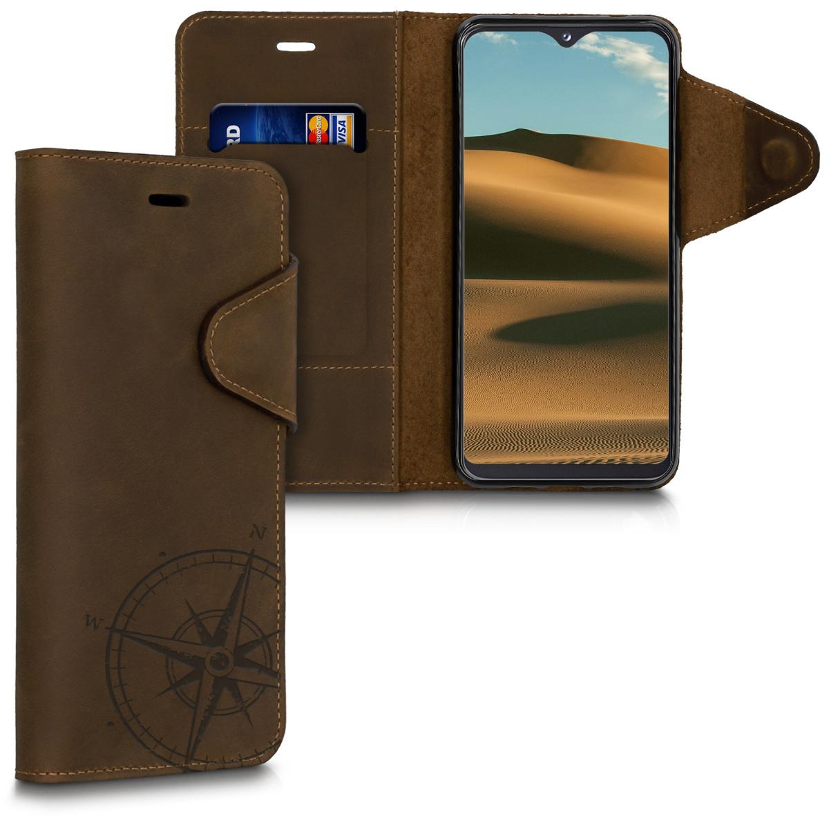 Kalibri Δερμάτινη Suede Θήκη - Πορτοφόλι Samsung Galaxy A20e - Brown (49625.01)