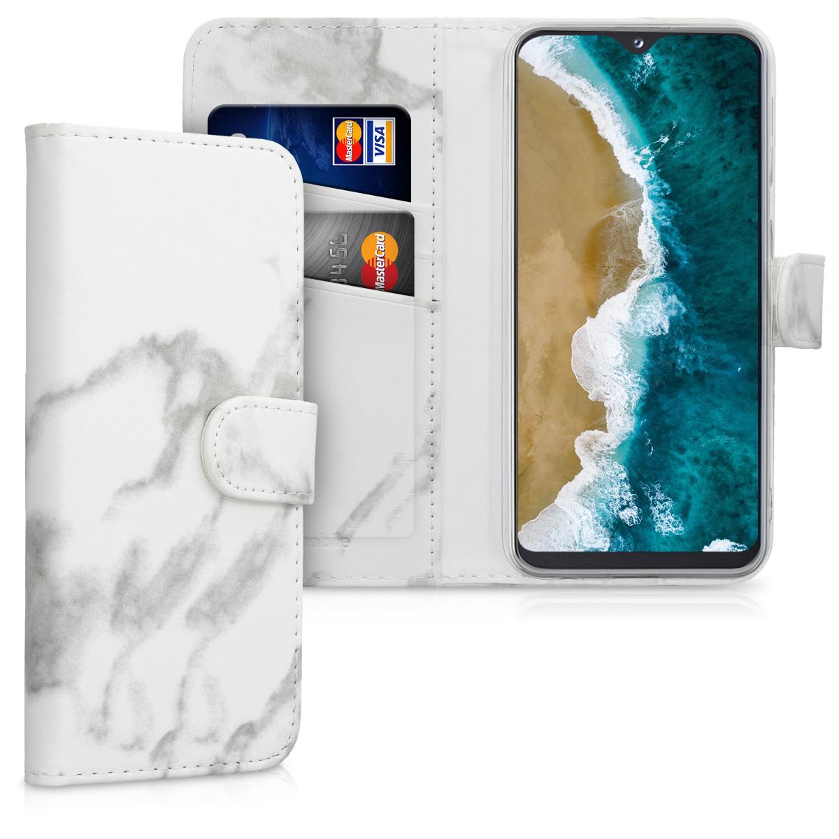 KW Θήκη Πορτοφόλι Samsung Galaxy A20e - White / Black (49626.01)