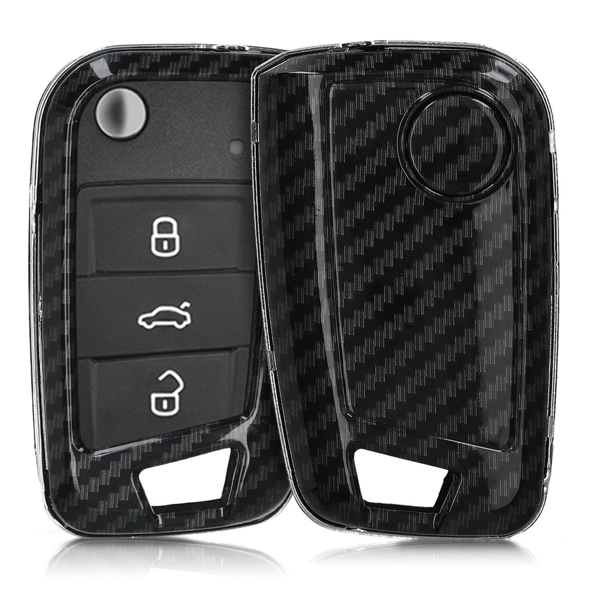 KW Σκληρή Θήκη Κλειδιού VW Golf 7 MK7 - 3 Κουμπιά - Black (49668.01)