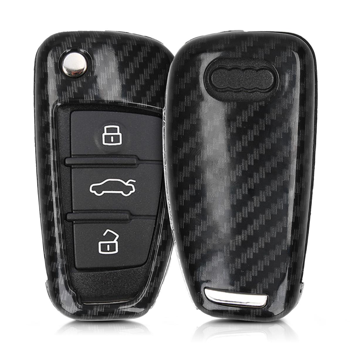 KW Σκληρή Θήκη Κλειδιού Audi - 3 Κουμπιά - Black (49669.01)