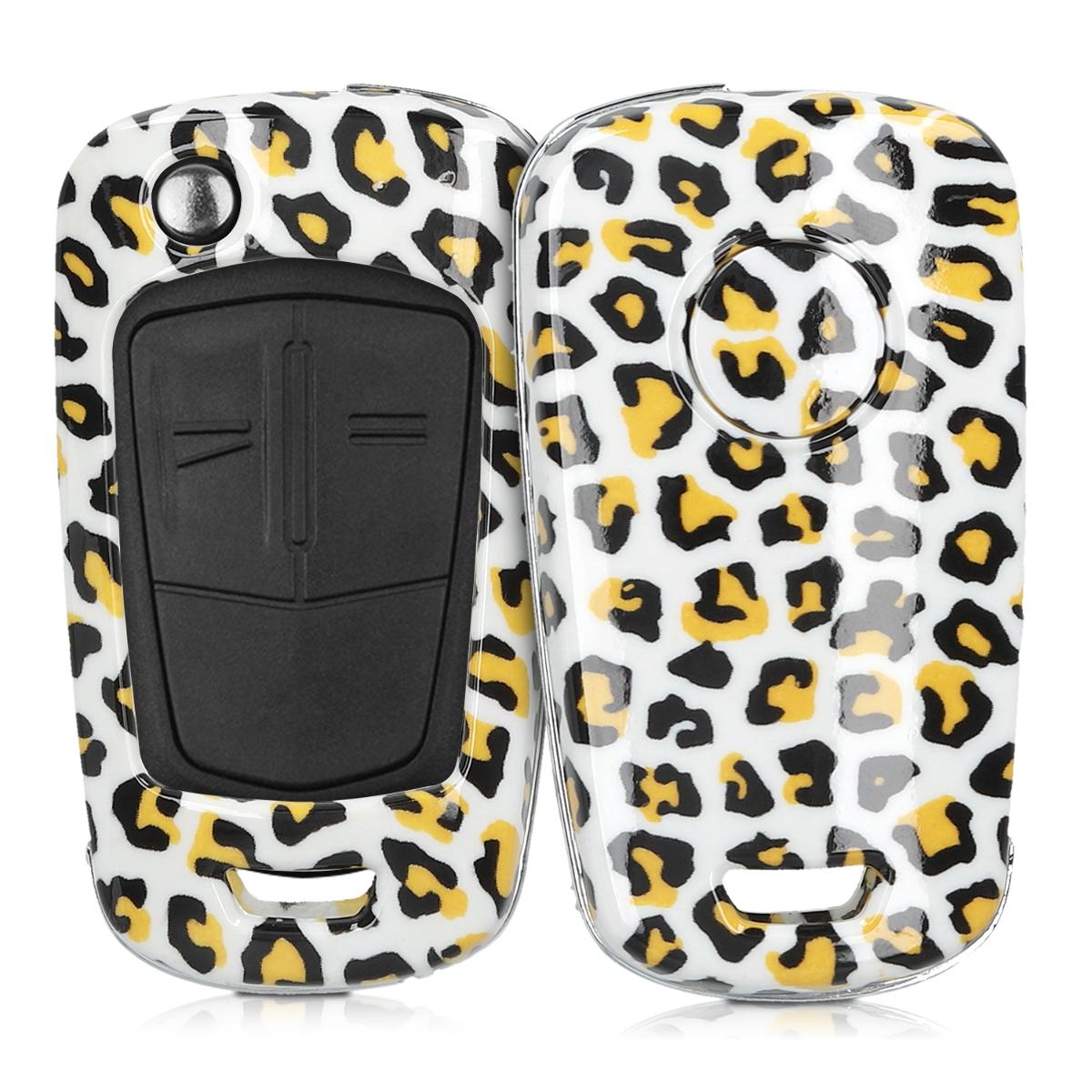 KW Σκληρή Θήκη Κλειδιού Opel Chevrolet - 2 Κουμπιά - Black / Yellow / White (49670.02)