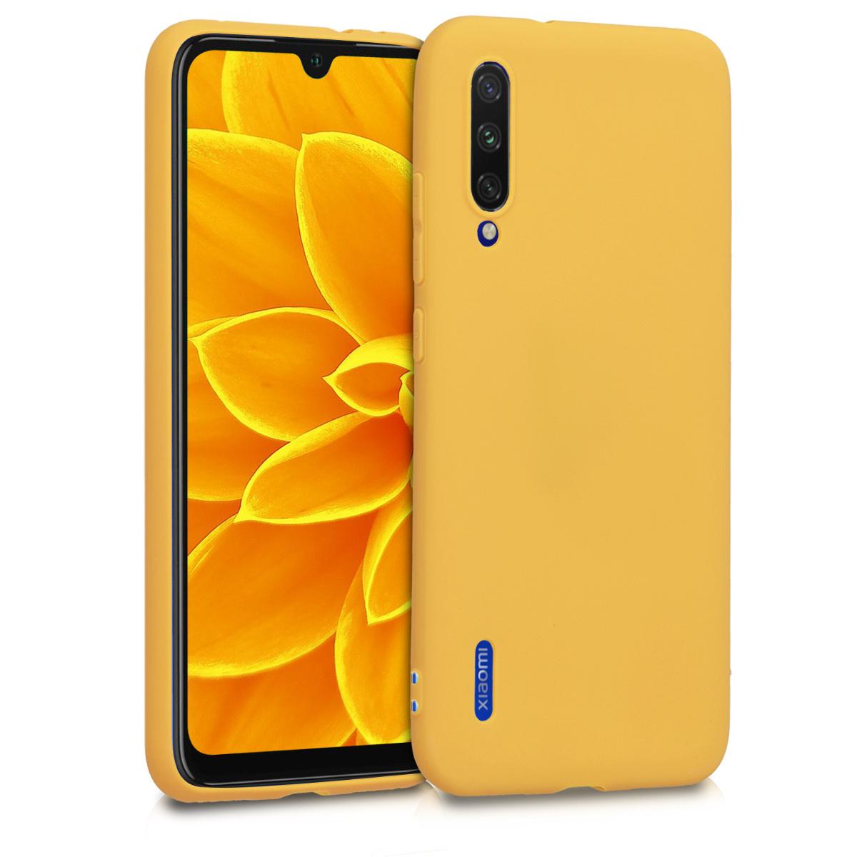 KW Θήκη Σιλικόνης Xiaomi Mi A3  - Honey Yellow (49674.143)