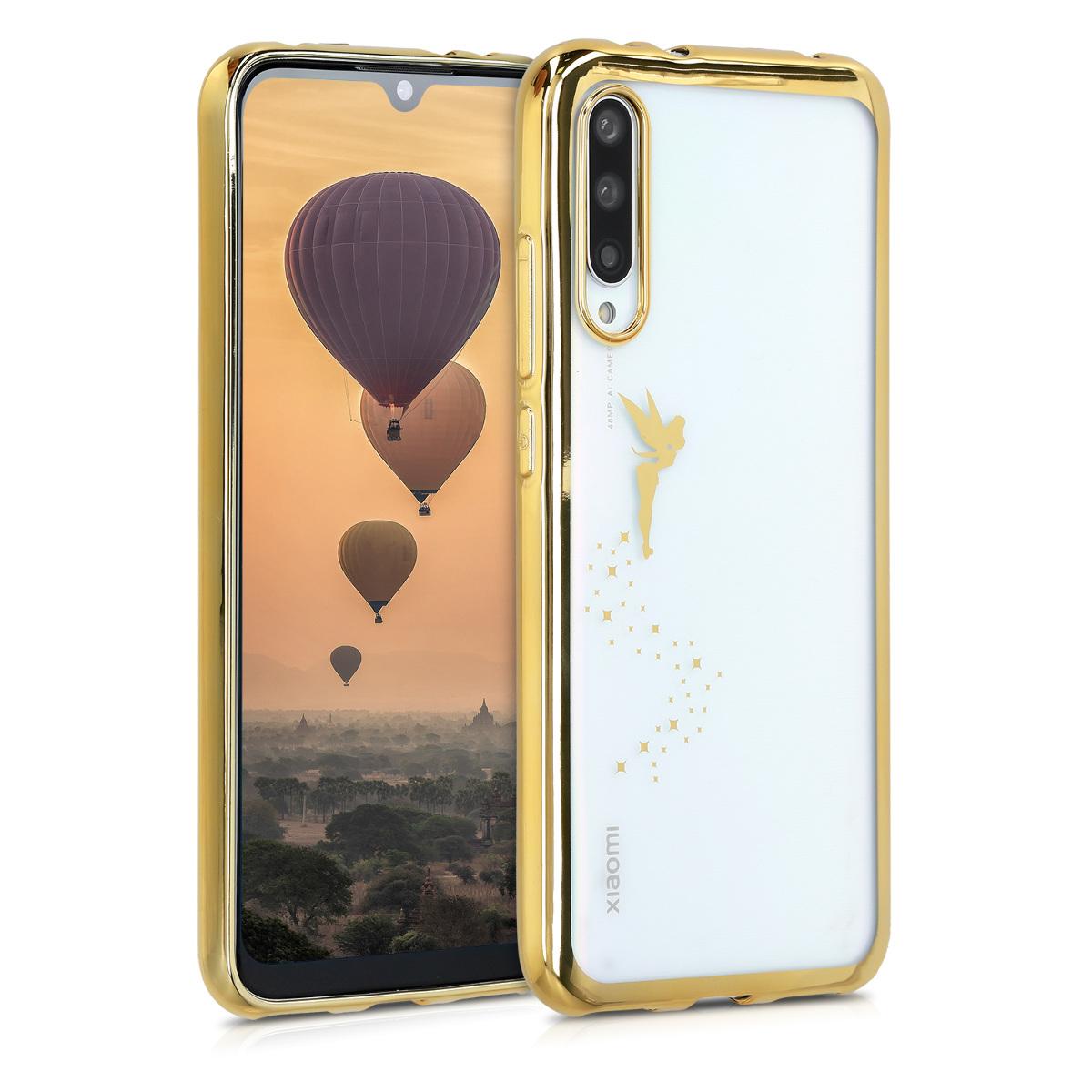 KW Θήκη Σιλικόνης Xiaomi Mi A3 - Gold / Transparent (49682.01)