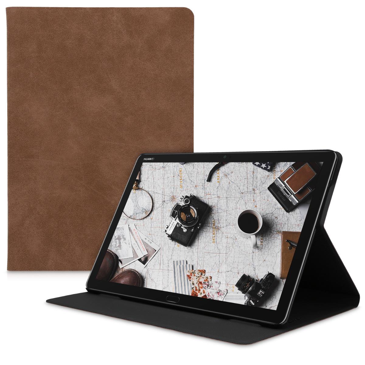 KW Suede Θήκη Πορτοφόλι Huawei MediaPad M5 Lite 10 - Brown (49722.05)