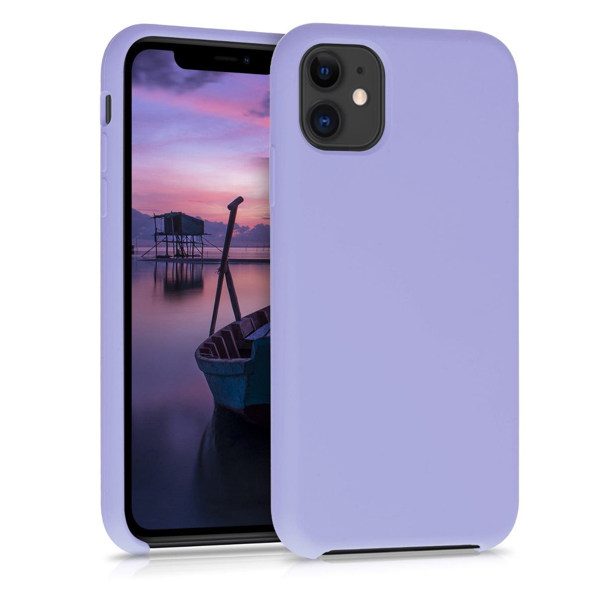 KW Θήκη Σιλικόνης Apple iPhone 11 - Soft Flexible Rubber - Lavender (49724.108)