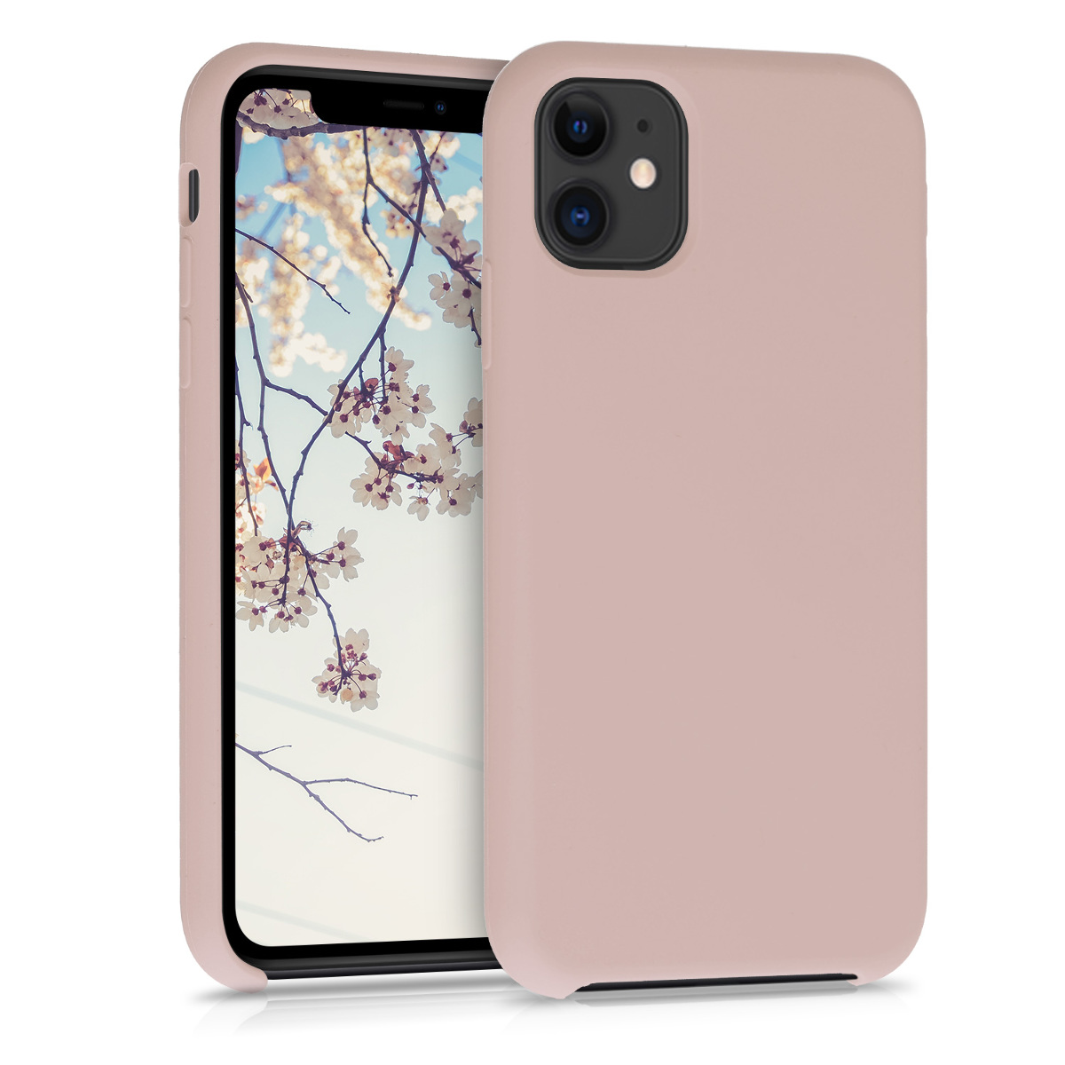 KW Θήκη Σιλικόνης Apple iPhone 11 - Soft Flexible Rubber Protective Cover - Dusty Pink (49724.10)