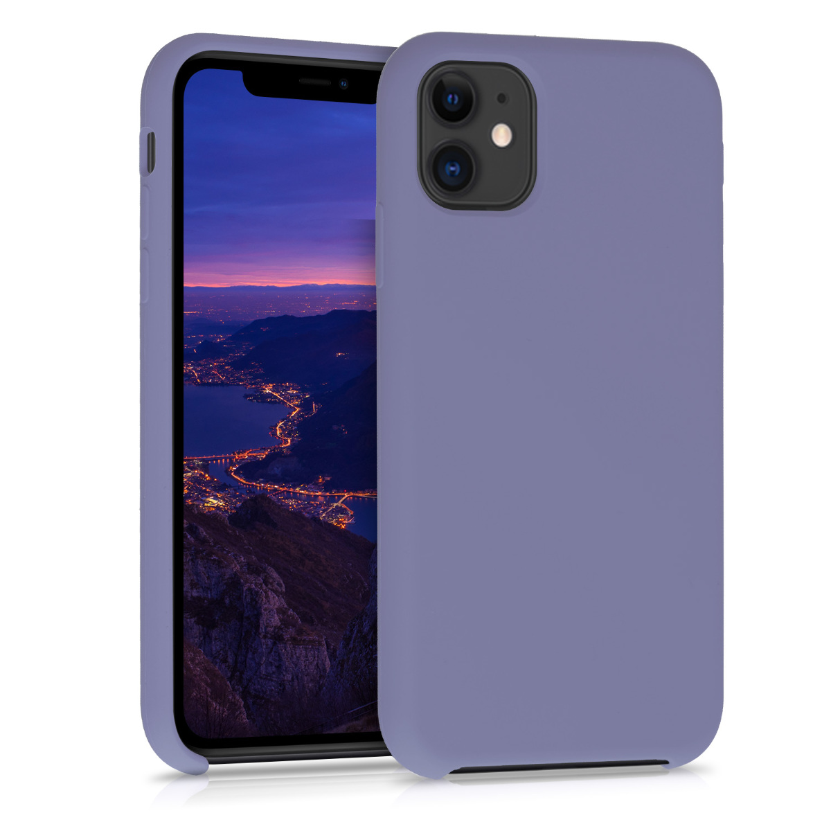 KW Θήκη Σιλικόνης Apple iPhone 11 - Soft Flexible Rubber - Lavender Grey (49724.130)