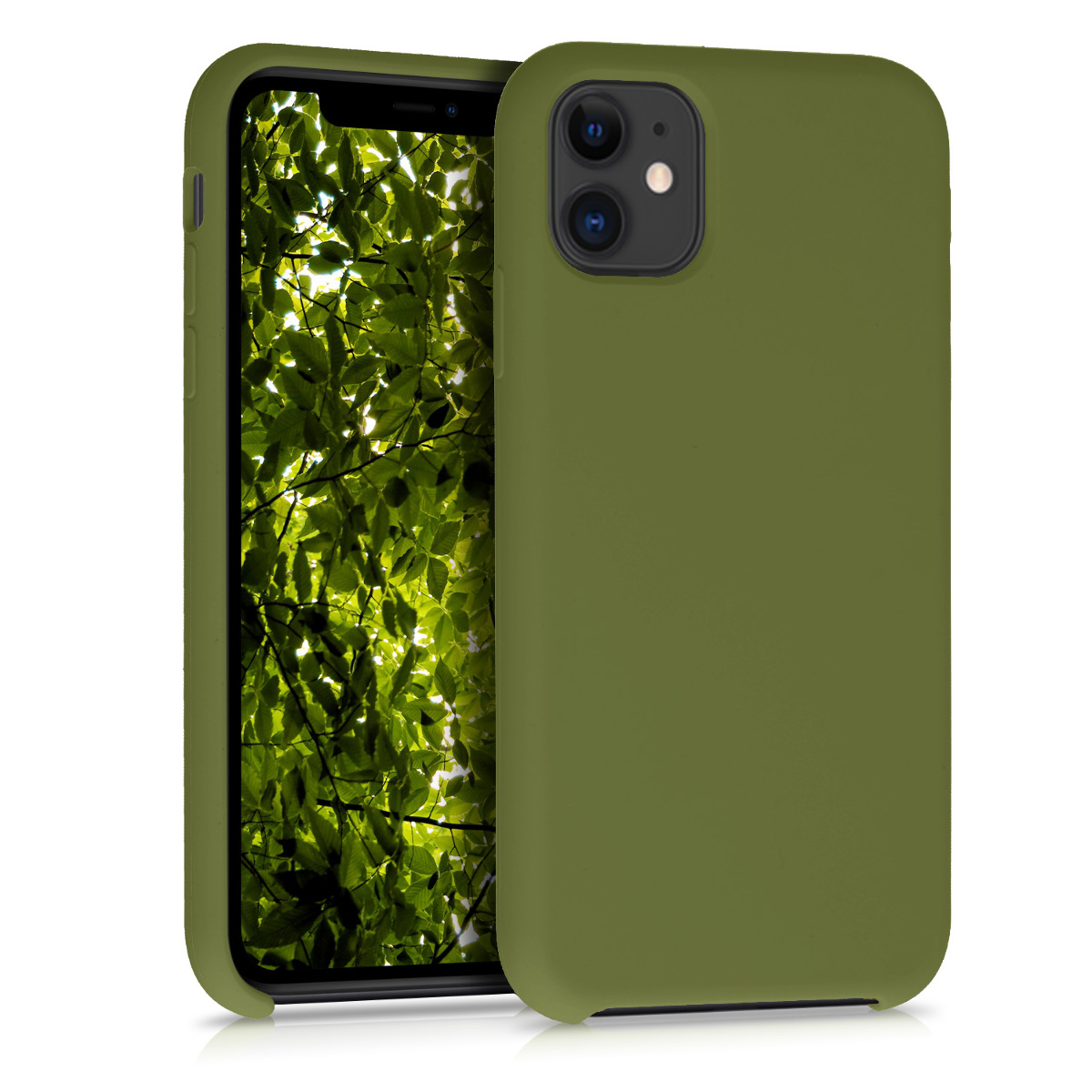 KW Θήκη Σιλικόνης iPhone 11 - Soft Flexible Rubber - Pale Olive Green (49724.148)