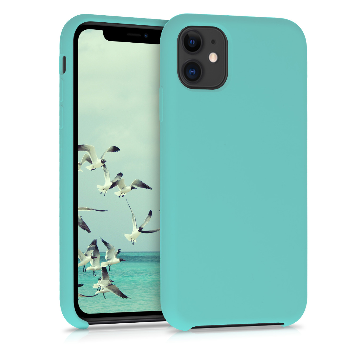 KW Θήκη Σιλικόνης iPhone 11 - Soft Flexible Rubber Protective Cover - Mint Matte (49724.71)