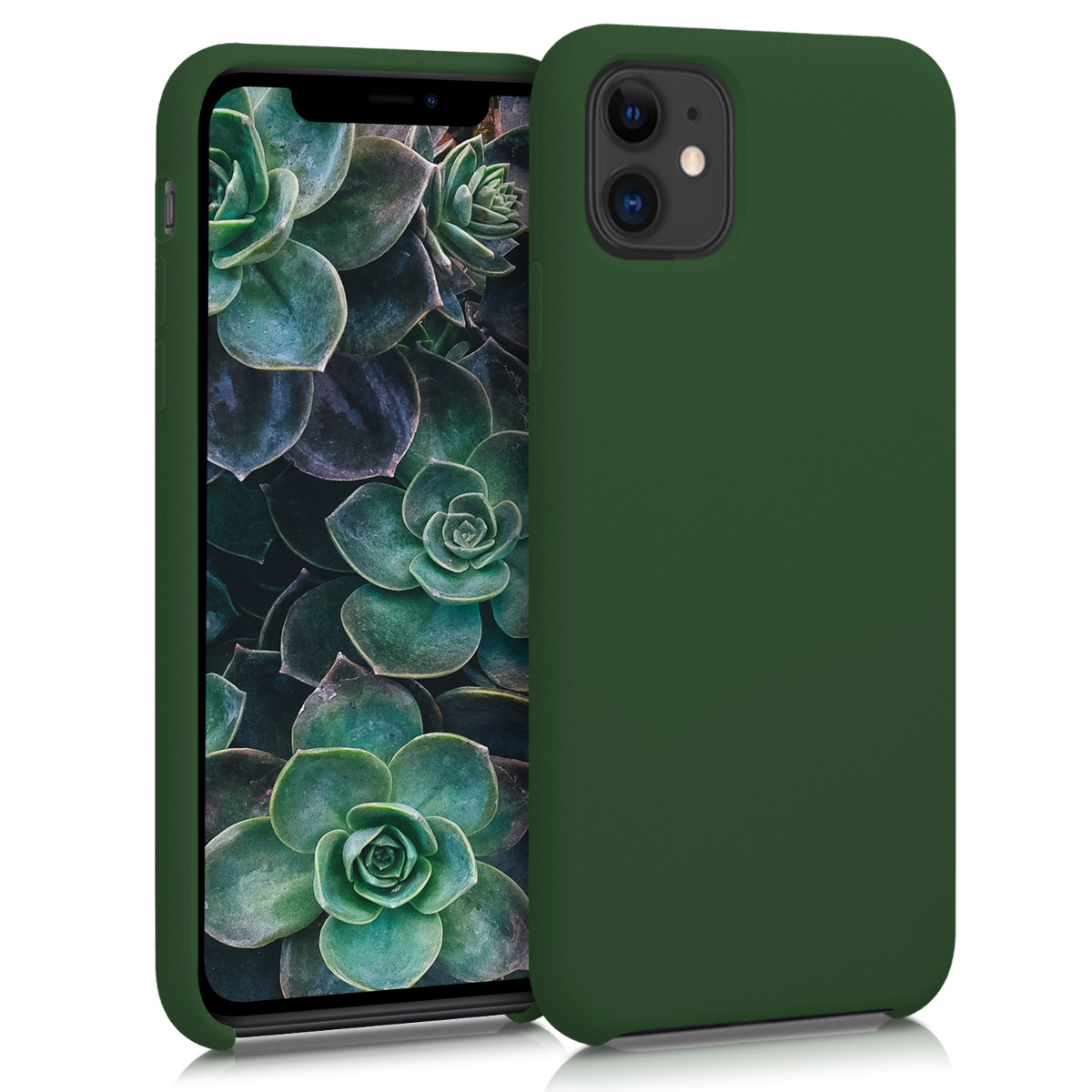 KW Θήκη Σιλικόνης Apple iPhone 11 - Soft Flexible Rubber - Dark Green (49724.80)