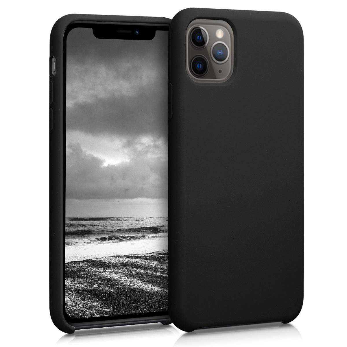 KW Θήκη Σιλικόνης Apple iPhone 11 Pro Max - Soft Flexible Rubber - Black (49725.01)
