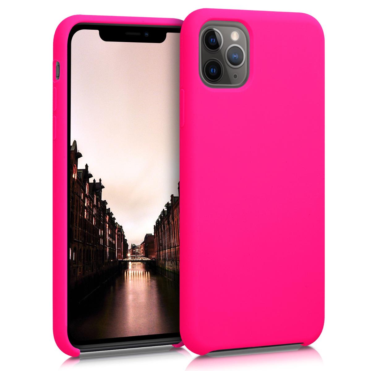 KW Θήκη Σιλικόνης Apple iPhone 11 Pro Max - Soft Flexible Rubber - Dark Pink (49725.08)