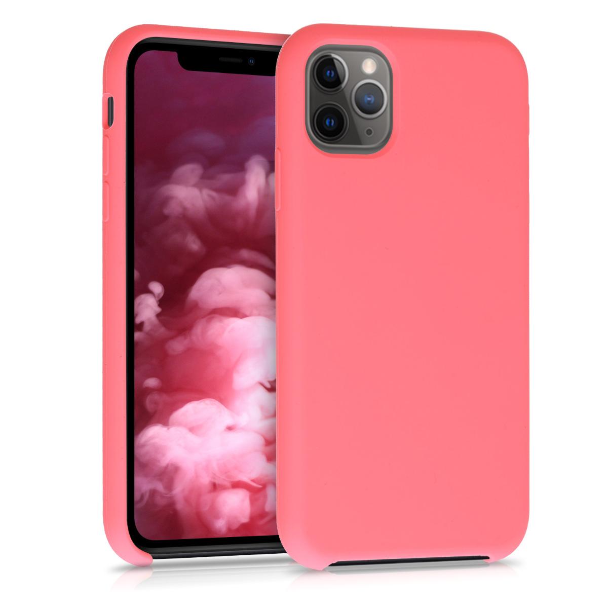 KW Θήκη Σιλικόνης Apple iPhone 11 Pro Max - Soft Flexible Rubber - Neon Coral (49725.103)