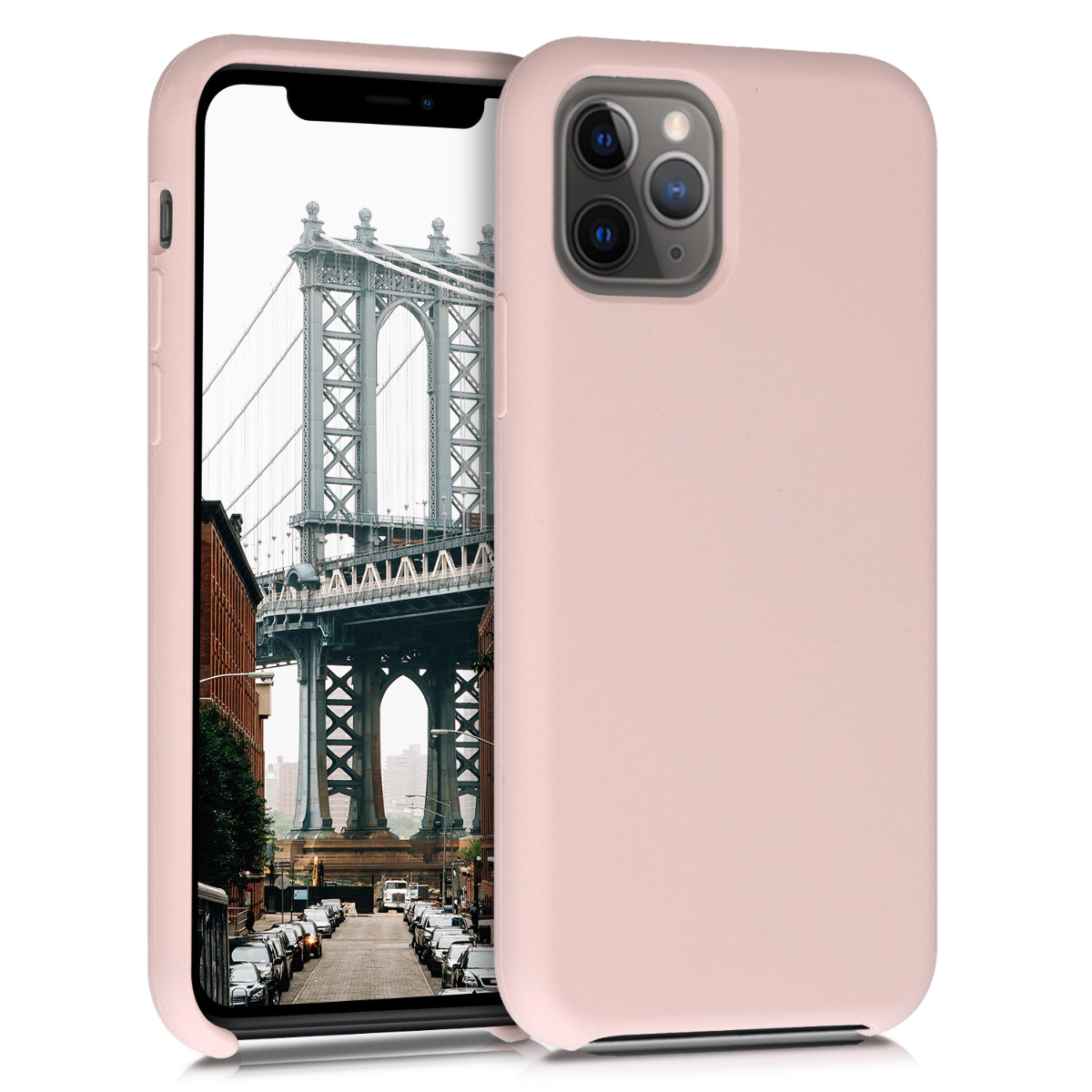 KW Θήκη Σιλικόνης Apple iPhone 11 Pro Max - Soft Flexible Rubber - Dusty Pink (49725.10)