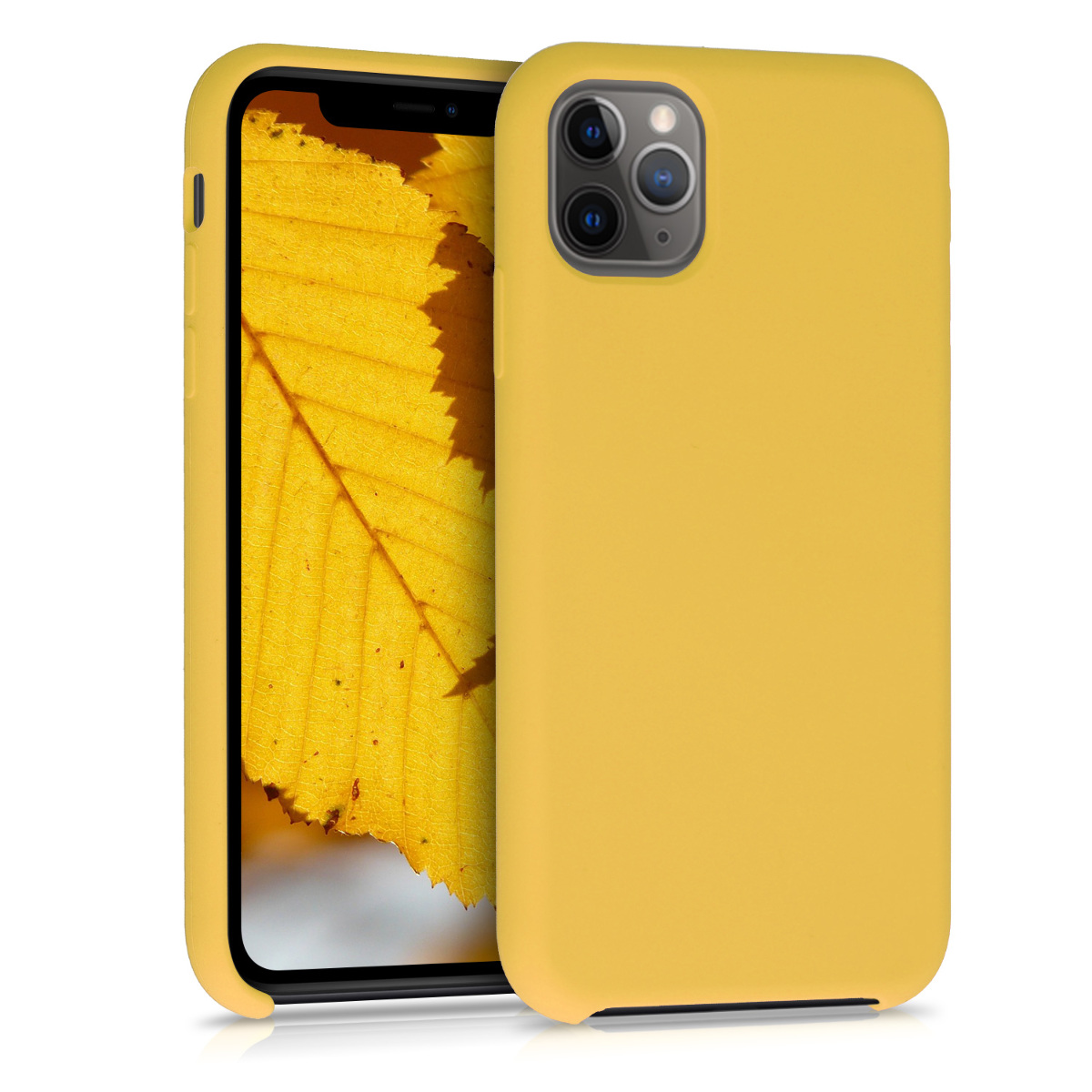 KW Θήκη Σιλικόνης Apple iPhone 11 Pro Max - Soft Flexible Rubber - Honey Yellow (49725.143)