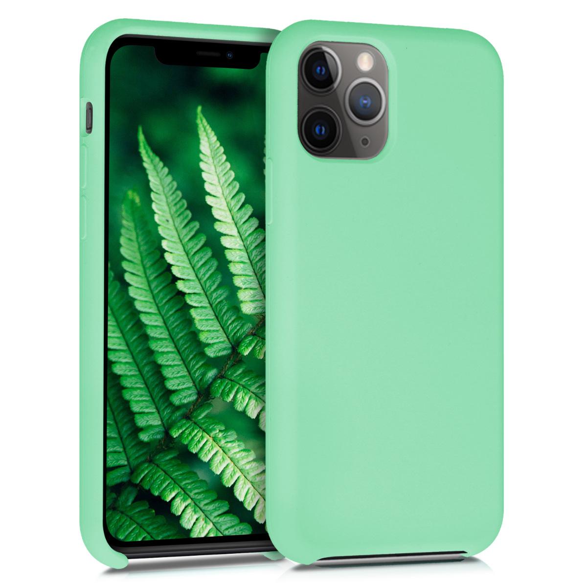 KW Θήκη Σιλικόνης iPhone 11 Pro Max - Soft Flexible Rubber - Peppermint Green (49725.147)