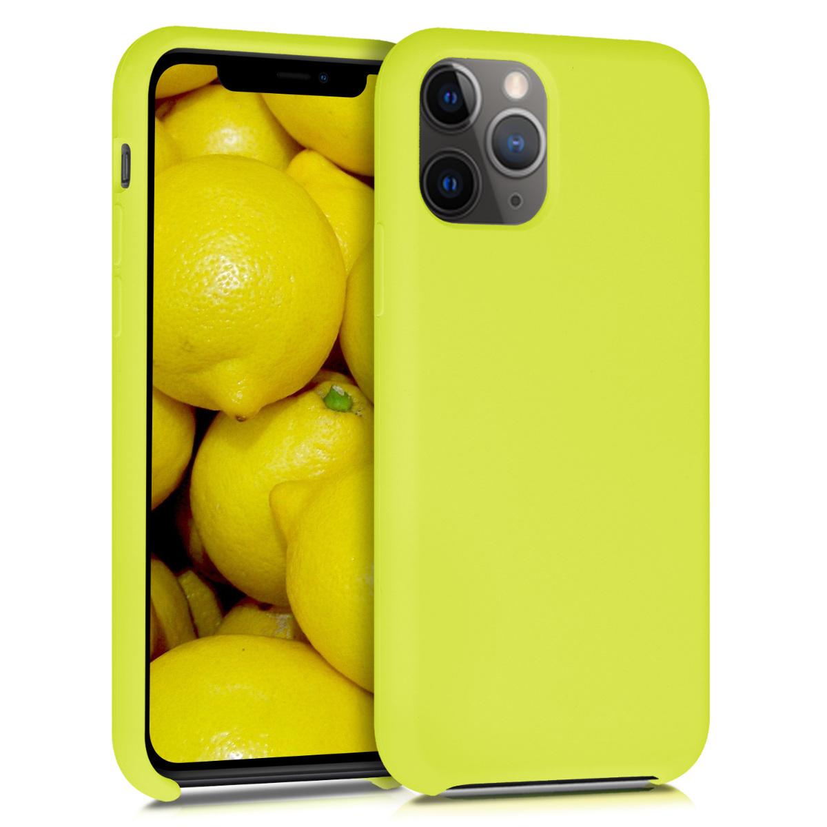 KW Θήκη Σιλικόνης iPhone 11 Pro Max - Soft Flexible Rubber - Lemon Yellow (49725.149)