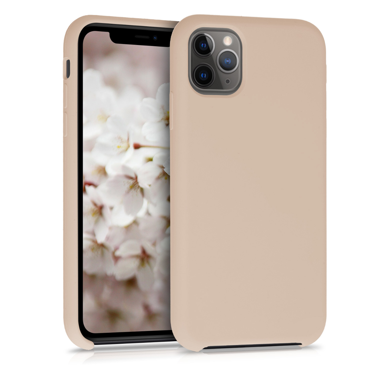 KW Θήκη Σιλικόνης Apple iPhone 11 Pro Max - Soft Flexible Rubber- Mother Of Pearl (49725.154)