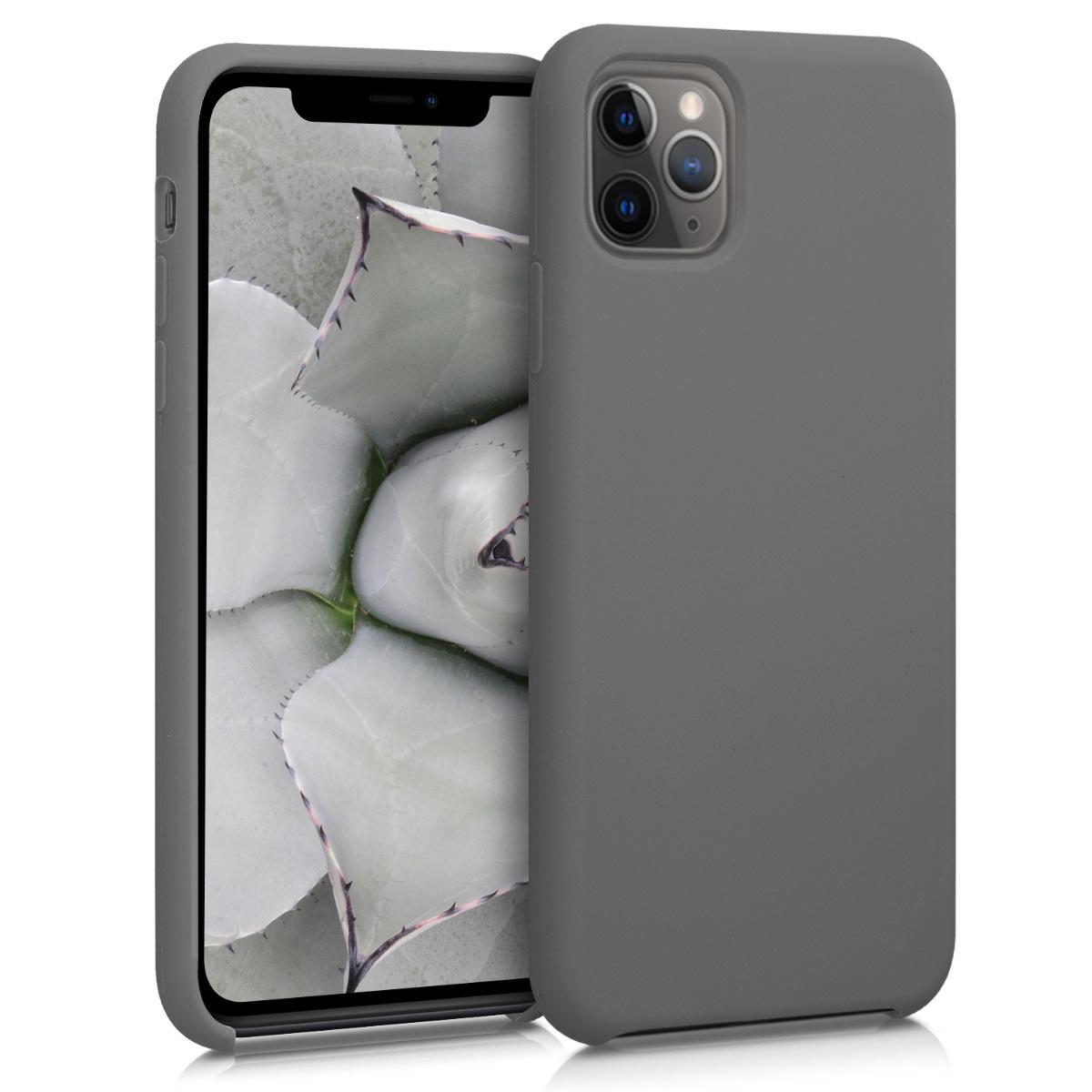 KW Θήκη Σιλικόνης Apple iPhone 11 Pro Max - Soft Flexible Rubber - Titanium Grey (49725.155)