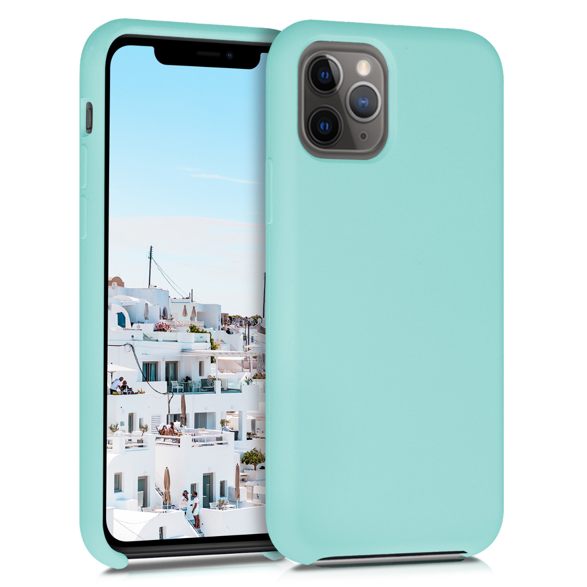 KW Θήκη Σιλικόνης iPhone 11 Pro Max - Soft Flexible Rubber Protective Cover - Mint Matte (49725.71)