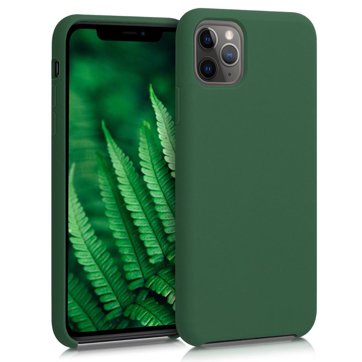 KW Θήκη Σιλικόνης iPhone 11 Pro Max - Soft Flexible Rubber - Dark Green (49725.80)