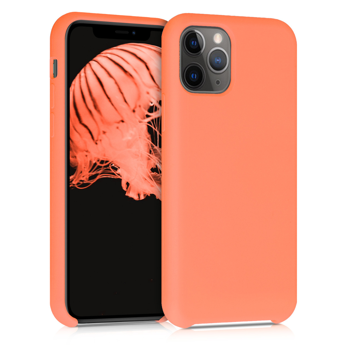 KW Θήκη Σιλικόνης Apple iPhone 11 Pro - Soft Flexible Rubber Protective Cover - Papaya (49726.144)