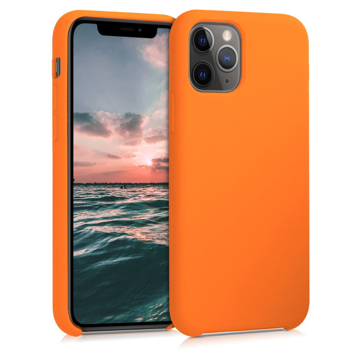 KW Θήκη Σιλικόνης Apple iPhone 11 Pro - Soft Flexible Rubber - Cosmic Orange (49726.150)