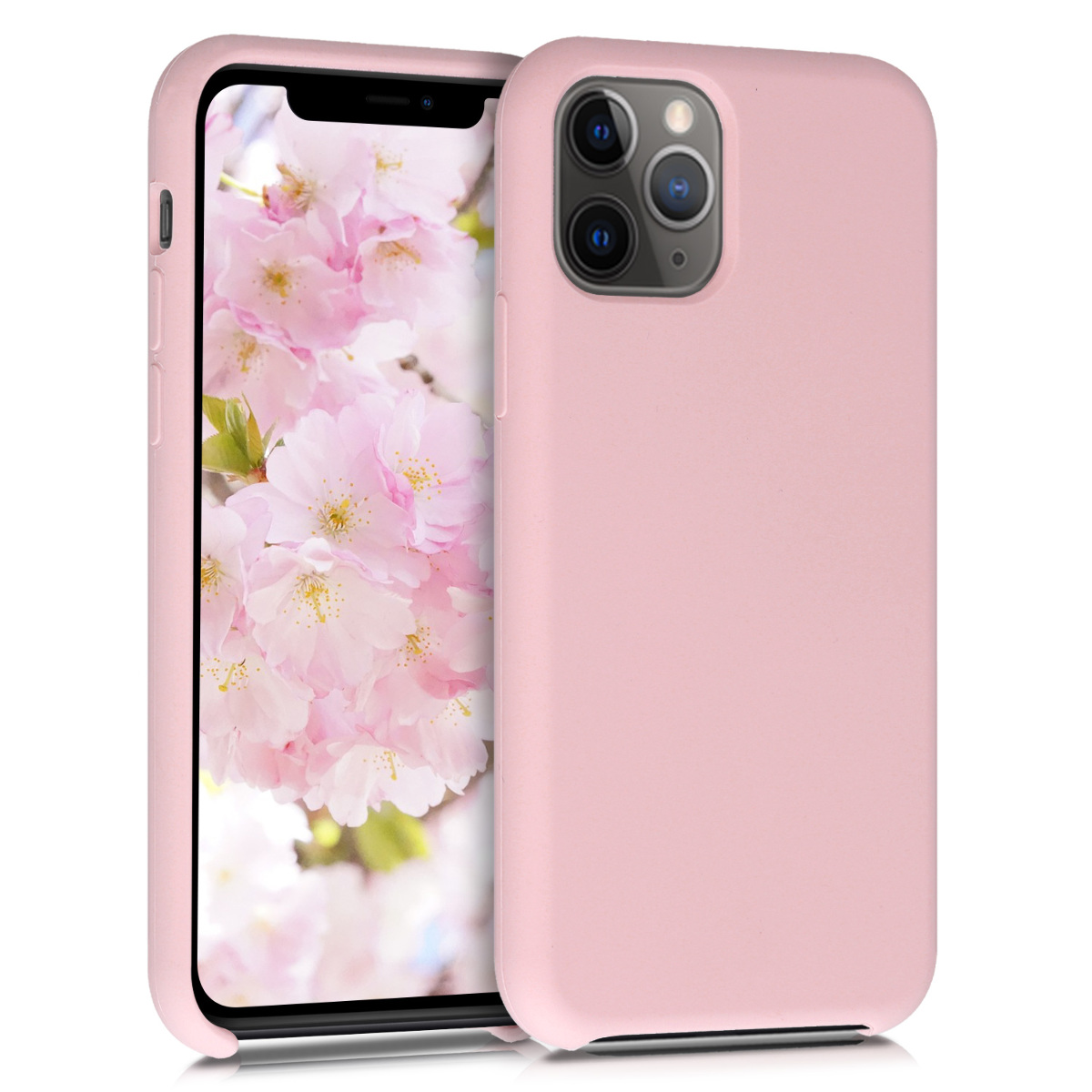 KW Θήκη Σιλικόνης Apple iPhone 11 Pro - Soft Flexible Rubber - Peach Skin (49726.156)